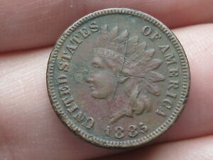 1885 INDIAN HEAD CENT PENNY  VF/XF DETAILS LIBERTY SHOWS