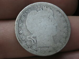1897 P SILVER BARBER QUARTER 25C  LOWBALL HEAVILY WORN PO1 CANDIDATE?