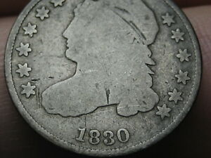 1830 CAPPED BUST SILVER DIME  LARGE 10C