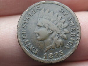 1885 INDIAN HEAD CENT PENNY  FINE DETAILS