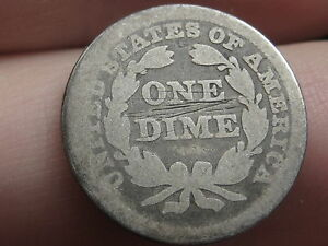 1855 P SEATED LIBERTY SILVER DIME  WITH ARROWS