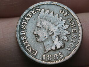 1885 INDIAN HEAD CENT PENNY  VG/FINE DETAILS