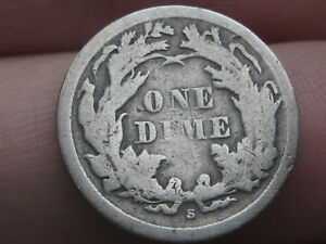 1868 S SEATED LIBERTY SILVER DIME