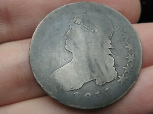 1811 CAPPED BUST HALF DOLLAR  SMALL 8