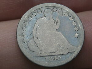 1840 P SEATED LIBERTY SILVER DIME  NO DRAPERY