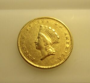 1855 INDIAN PRINCESS SMALL HEAD DOLLAR GOLD COIN