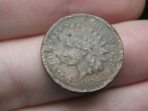 1876 INDIAN HEAD CENT PENNY  FINE/VF DETAILS PARTIAL LIBERTY
