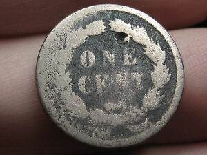 1859 COPPER NICKEL INDIAN HEAD CENT PENNY