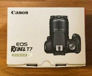 CANON EOS REBEL T7 DSLR CAMERA WITH 18 55MM LENS KIT   2727C003