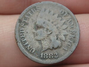1882 INDIAN HEAD CENT PENNY  GOOD/VG DETAILS