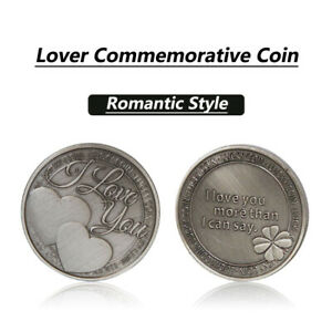 1PC US ENGRAVED LUCKY COIN I LOVE YOU GIFT CHARM KEEPSAKE PRESENT GIFT RHN02US