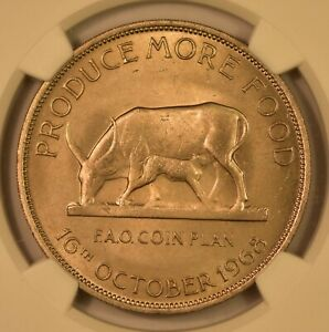Click now to see the BUY IT NOW Price! 1968 UGANDA 5 SHILLINGS F.A.O NGC MS65 TOP POP FINEST KNOWN