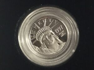 1997 W  1/10 OUNCE PROOF PLATINUM EAGLE ALL ORIGINAL BOX COA