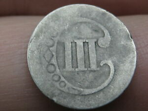 1851 1853 THREE 3 CENT SILVER TRIME  TYPE 1