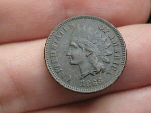 1868 INDIAN HEAD CENT PENNY  VF/XF DETAILS