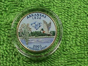 UNITED STATES  25 CENTS   2003 P  UNC   ARKANSAS  COLORIZED  COMBINED SHIPPING