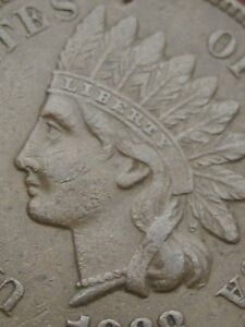1868 INDIAN HEAD CENT PENNY  XF DETAILS LIBERTY BOLD DIAMONDS