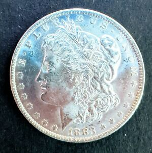 DMPL  1883 O MORGAN SILVER DOLLAR DEEP MIRROR PROOF LIKE BLAST WHITE GEM BU