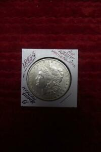 1885 S  AU  MORGAN SILVER DOLLAR SHARP ABOUT UNCIRCULATED BOLD STRIKE 1