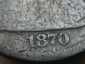 1870 SEATED LIBERTY SILVER DOLLAR   DATE