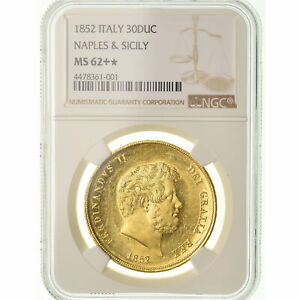 Click now to see the BUY IT NOW Price! [489262] COIN ITALIAN STATES NAPLES FERDINANDO II 30 DUCATI 1852 NGC