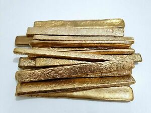 199 GRAMS SCRAP GOLD BAR FOR GOLD RECOVERY MELTED DIFFERENT COMPUTER COIN PINS