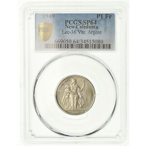 Click now to see the BUY IT NOW Price! [489375] COIN NEW CALEDONIA FRANC 1949 EPREUVE PCGS SP64 SILVER GRADED
