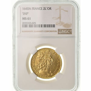 Click now to see the BUY IT NOW Price! [489347] COIN FRANCE LOUIS XIII DOUBLE LOUIS D'OR 1640 PARIS NGC MS61
