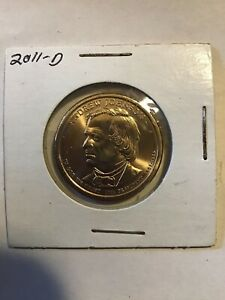 2011 D ANDREW JOHNSON GOLD TONE COIN $1 PRESIDENTIAL DOLLAR UNCIRCULATED