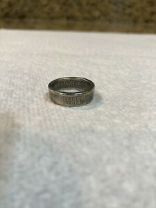 2003 S ILLINOIS SILVER PROOF STATE QUARTER COIN RING