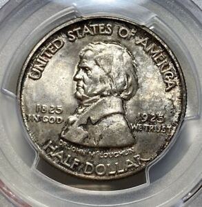 1925 VANCOUVER 50C COMMEMORATIVE SILVER HALF DOLLAR PCGS MS 65 CAC APPROVED