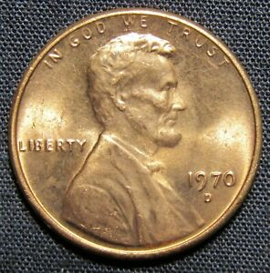 1970 D US LINCOLN MEMORIAL CENT COPPER COIN