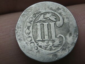1857 THREE 3 CENT SILVER TRIME  TYPE 2