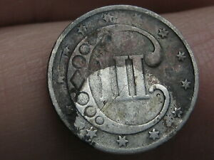 1852 THREE 3 CENT SILVER TRIME  GOOD DETAILS