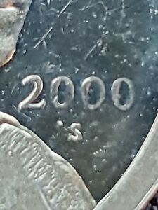 2000 S $1 CAMEO PROOF SACAGAWEA DOLLAR  DIE ERROR.  MUST SEE