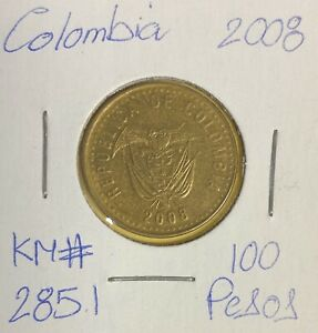 COLOMBIA 100 PESOS 2008  COMBINED SHIPPING   C251