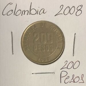 COLOMBIA 200 PESOS 2008  COMBINED SHIPPING   C243