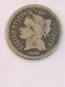 1866THREE CENT NICKEL  SEE THE PICTURES