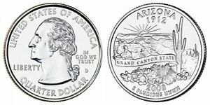 2008 D ARIZONA STATE QUARTER NEW U.S. MINT