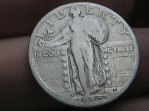 1926 S SILVER STANDING LIBERTY QUARTER FINE DETAILS