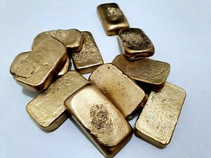 70 GRAMS SCRAP GOLD BAR FOR GOLD RECOVERY MELTED DIFFERENT COMPUTER COIN PINS