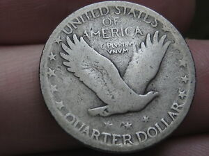 1926 S SILVER STANDING LIBERTY QUARTER VG/FINE DETAILS