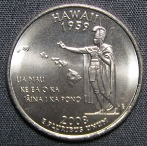 2008 D US WASHINGTON STATE QUARTER   HAWAII