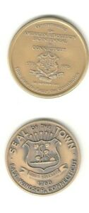 2 CONNECTICUT COMMEMORATIVE COINS EAST WINDSOR AND STATE 1976 BICENTENNIAL