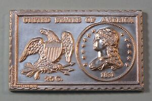 1831 UNITED STATES LIBERTY CAPPED QUARTER DOLLAR NUMISTAMP MEDAL COIN 1974 REED