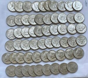 Click now to see the BUY IT NOW Price! LOT OF 79 KENNEDY HALF DOLLARS GEM BU 1981 D 1986 D 1988 D READ BELOW