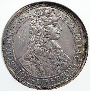 Click now to see the BUY IT NOW Price! 1707 BOHEMIAN KINGDOM PRE CZECH KING CHARLES III SILVER TALER NGC COIN I85328