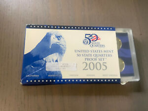 2005 S U.S. MINT 50 STATE QUARTERS PROOF COIN SET WITH CASE  AND CERTIFICATE