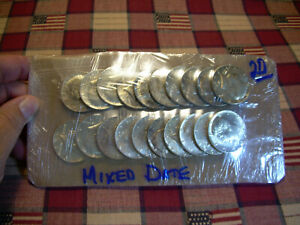 LOT OF 20 KENNEDY 40  SILVER HALF DOLLAR COINS NICE COINS $10 FACE ROLL