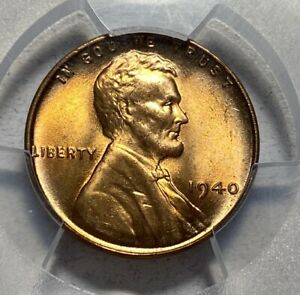 1940 LINCOLN CENT 1C PENNY PCGS MS 66 RED